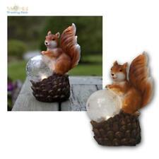 LED Solar Light Solar Lamp Squirrel & Pinecone, Garden Solar Figure Decor