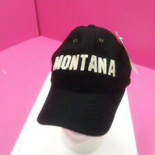 UNIVERSITY OF MONTANA GRIZZLIES - NEW FOOTBALL HAT - BLACK WOOL BLEND THROWBACK