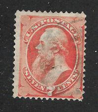 U.S. Scott 149 Stanton 7 cent vermilion stamp.