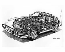 1979 Datsun 280ZX Cutaway Automobile Photo Poster zuc4810