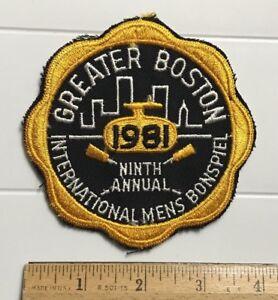 Vintage Greater Boston 1981 International Mens Bonspiel Curling Tournament Patch
