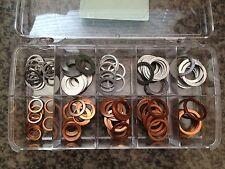 Oil Drain Plugs Copper & Aluminum Washer Assortment Kit