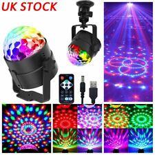 More details for usb magic ball light led party disco rgb rotating club dj stage lights +remote