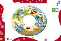 Enfants Bouée Gonflable Pneu Flottant Piscine Aide les Schtroumpfs