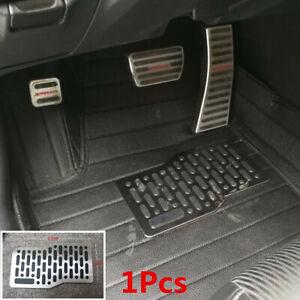 1x Universal Car SUV Non Slip Floor Carpet Mats Stainless Steel Foot Rest Pedal