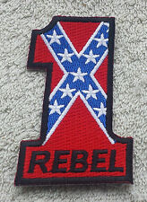 USA NUMBER ONE FLAG PATCH Cloth Badge/Emblem/Insignia Biker Jacket Bag Iron Sew
