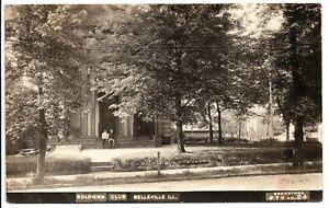 RPPC Soldiers Club Belleville ILL Vintage Postcard 1911 St. Lous MO