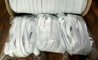 FLAT Elastic 3/8 inch Knit for Face Mask 9, 18 Yard CUTS in WHITE, Narrow Soft