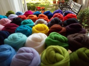 74 Colours* 100% Merino Roving Wool Tops for Needle and Wet Felting 50 - 150 g