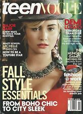 Teen Vogue magazine Demi Lovato Fall fashion Michelle Phan The Hunger Games