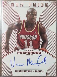 Vernon Maxwell 2013-14 Panini Preferred auto card 94/99