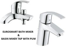 GROHE Eurosmart Bath Shower Mixer & Basin Mixer Tap PUW  25105000 + 3326520L