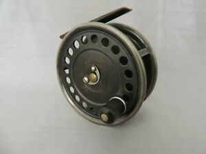 """Hardy Uniqua 4"""" Duplicated Mk2 Salmon Fly Fishing Reel Ventilated  Face Plate."""