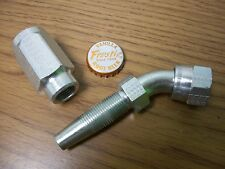 Reusable Tube To Hose Elbow Hydraulic Fitting M525252 8 10 Military