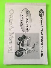 Sento Kiwi 50 100 Scooter Owner's Manual NEW Kwang Yang Kymco