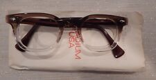 Vintage American Optical Hybrid Stadium Brown 46/24 Men's Plastic Eyeglass Frame