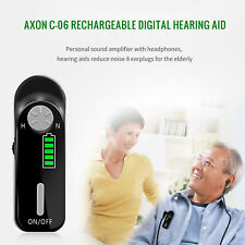 Digital Rechargeable AXON Hearing Aid Noise Reduction Sound Amplifier w/US Plug