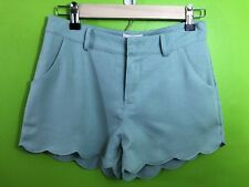 LOVE RICHE Shorts Womens Small Scalloped Mint Green Polyster Lined Boutique NWT