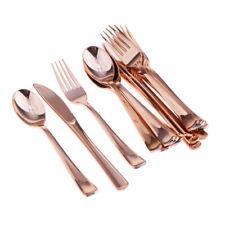 18 Stück Einwegbesteck Set Gabelmesser aus Kunststoff Löffel Dining Collection