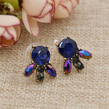 Fashion Jewelry Rhine Stone Bee Dot Earrings Shiny Point Cute Girls Animal Stud