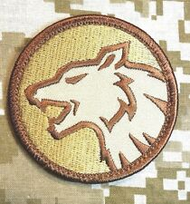 WOLF HEAD FIERCE DOG K9 MORALE ISAF ARMY DESERT HOOK PATCH