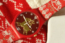 SWATCH X MAS ~ Christmas SPECIAL Red Knit SUOZ 172S