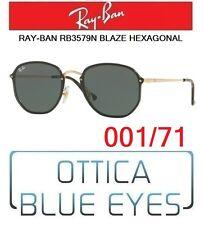 Occhiali da Sole RAYBAN RB 3579N 001/71 BLAZE HEXAGONAL Sunglasses Ray Ban FLAT