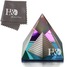 Colors Crystal Pyramid in Pyramid Healing Gift Craft Paperweight Office Decor