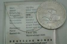 150 Lira Türkei 1978 Atatürk auf Traktor stempelglanz COA.....M796-1