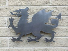 Welsh Dragon Silhouette in Mild Steel, for Weathervanes or Features in Gates