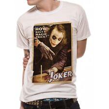 Batman The Dark Knight Joker Magic Trick Mens T-shirt Licensed Top White L