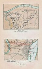 Orig 1778 Revolutionary War Maps Titled Valley Forge and Philadelphia Evacuated