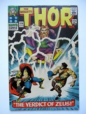Mighty Thor #129 6.0 FN Marvel Comic Book Silver Age Verdict of Zeus Stan Lee