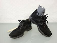HOGAN Interactive Wildleder Sneaker Gr.37,5 Schnürer Schuhe Shoes Schwarz