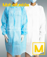 Disposable Lab Coat Light 50pcs Protective Sanitary Gown Blue/White Medical