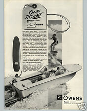 1965 PAPER AD Phil Of Downey Owens Fiberglass Surf Board Wakeboard Motor Boat