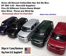 Scion xB Diecast Collectible 5pc Set No Box- KT 580 1:32 - New-(US Supplier)