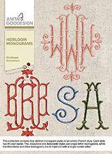 Anita Goodesign Embroidery Machine Design CD HEIRLOOM MONOGRAM