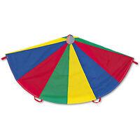 Champion Sports Nylon Multicolor Parachute 12-ft. diameter 12 Handles NP12