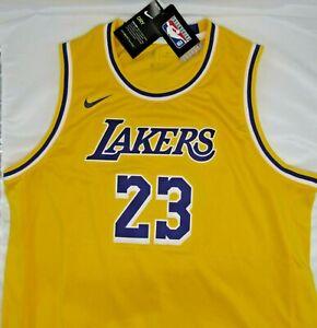 Los Angeles Lakers NBA LeBron James Nike Gold Swingman Jersey - Youth XL 18/20