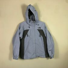 The North Face Hyvent Jacket Women's Medium Blue Water Proof Rain Coat