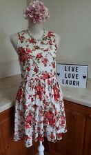 22. Gorgeous Rose Print Floral Summer Parisian Collection Dress Size 12