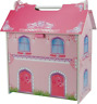 Wooden Small Doll House with 7 Pieces of Furniture