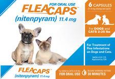 6 Flea Killer Ingredient Equal To Capstar Dog Cat 11.4 mg Capsules
