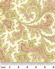 """Benartex Malabar Ivory 108"""" Wide Quilt Backing Fabric By The Yard"""