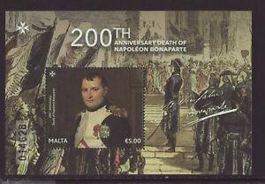 Malta 2020 MNH - 200th Anniversary Death Of Napoleon Bonaparte - m/sheet