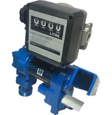 New 20GPM Fuel Transfer Pump Anti-explosive 12V Heavy Duty Gasolin Pump w/Meter