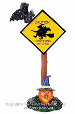 Lemax 84754 CAUTION SIGN Spooky Town Accessory Halloween Decor Witches Retired I