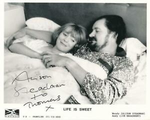 """Alison Steadman- Signed Photograph from, """"Life is Sweet"""""""