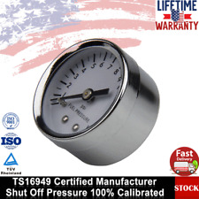 """Universal 1.5"""" Fuel/Oil Pressure Gauge 0-15 PSI White Face Replacement 1561 NEW"""
